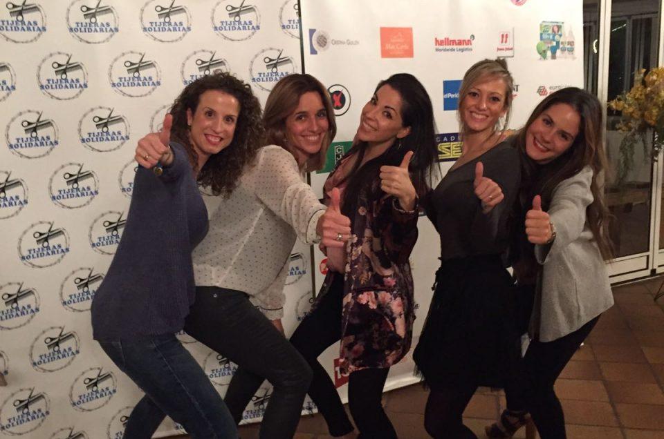 El equipo de ELS NÚVOLS, a la cena solidaria en apoyo a las personas refugiadas